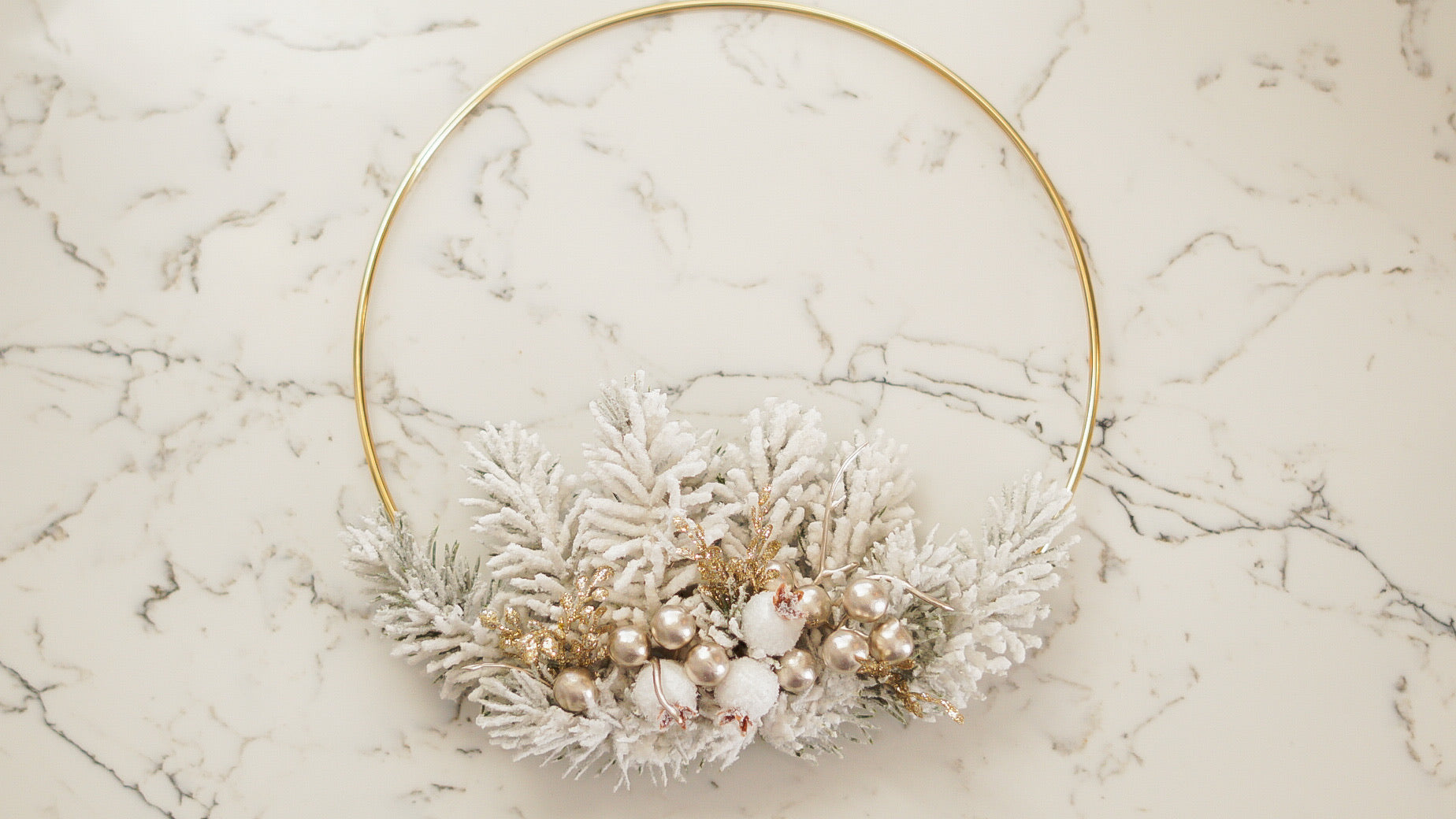 Frost -10 inch Hoop Wreath
