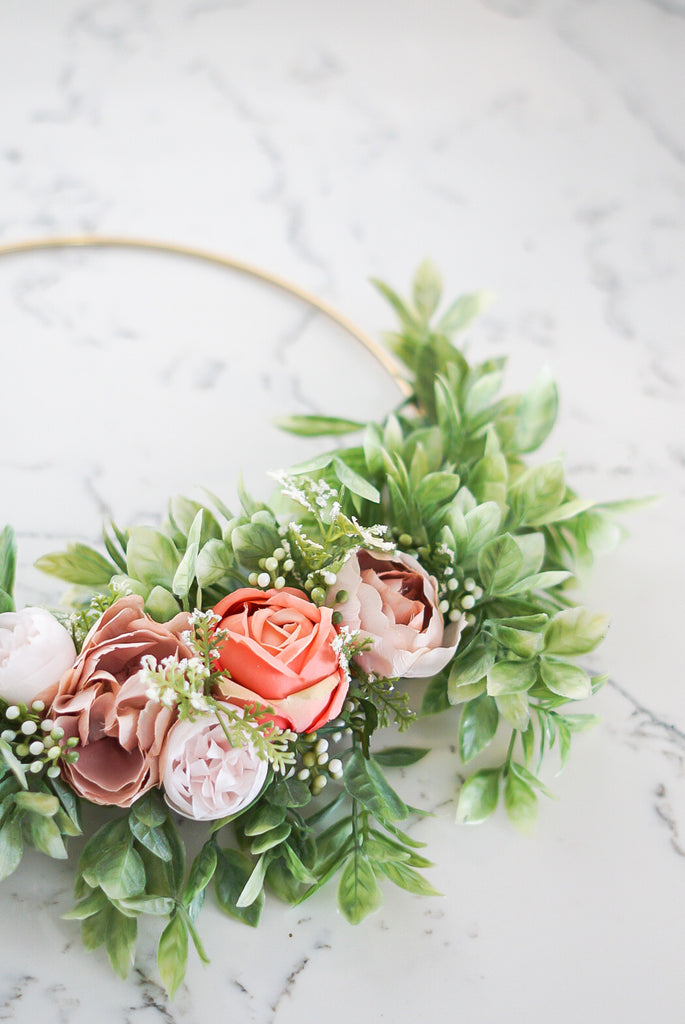 Juni -10inch Hoop Wreath