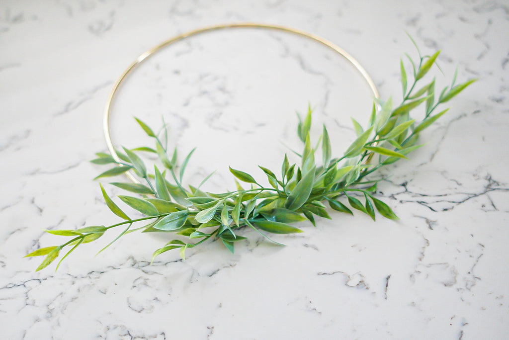 Imogen Green -10inch Hoop Wreath