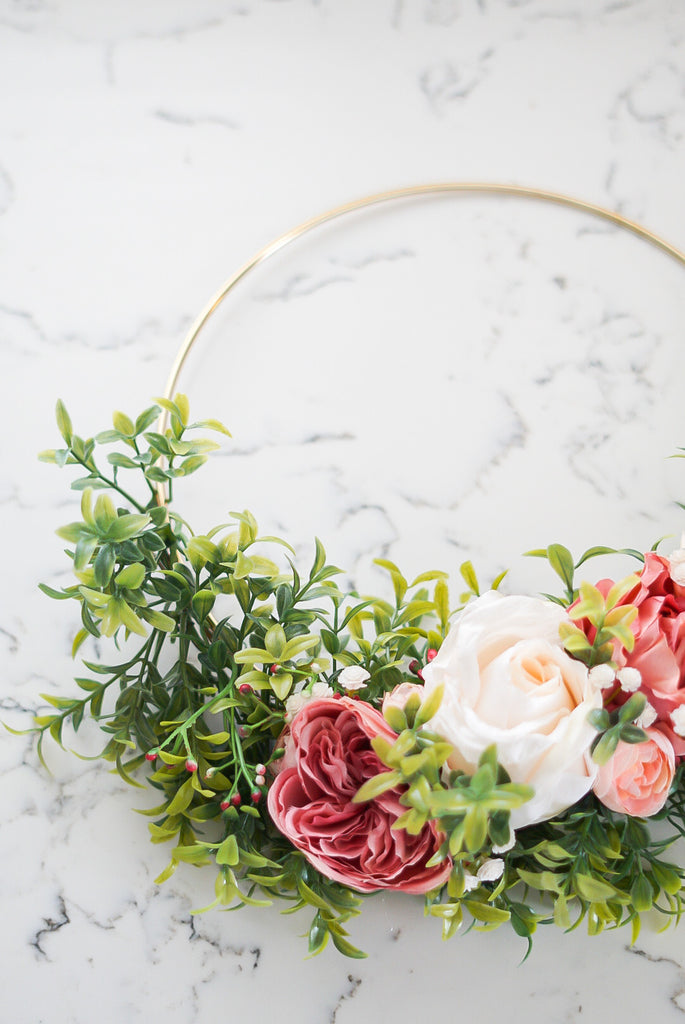 Tunni -10inch Hoop Wreath