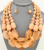 Layered Peach Beads
