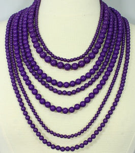 Purple Layered Pearls