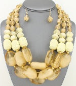 Layered beige beads