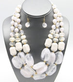 Layered White Beads