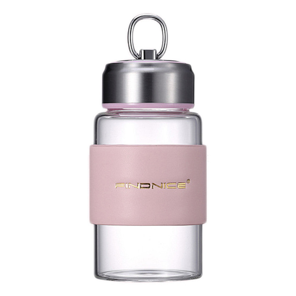 Portable Glass Water Bottle