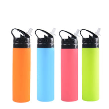 Load image into Gallery viewer, Folding Silicone Sports Water Bottle 600ml