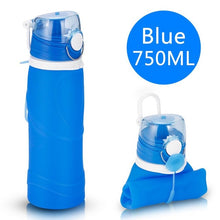 Load image into Gallery viewer, Silicone Folding Sports 750ML Water Bottle