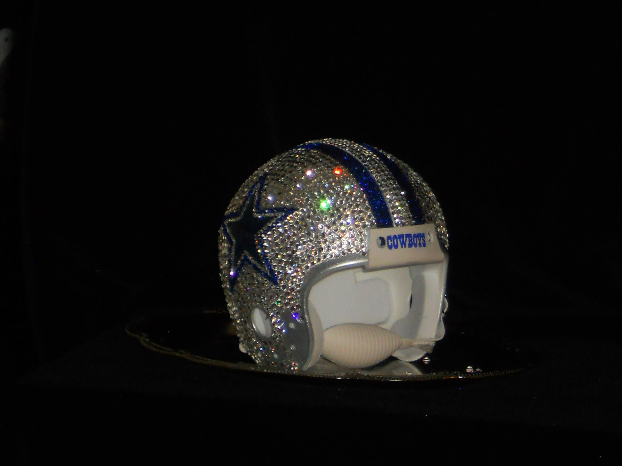 Rhinestone Miniature Football Helmets