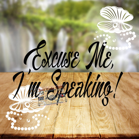 Excuse Me, I'm Speaking!