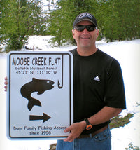 Custom Fishing Sign | Randy Durr in Worland, Wyoming