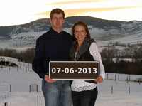 Custom Forest Service Sign | Josh and Amber from Montana