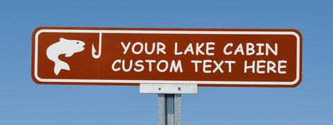 Custom Cabin Signs and Personalized Lake Cabin Signs - Signs ...