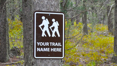 Custom Hiking Trail Sign