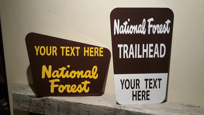 National Forest Trailhead Sign