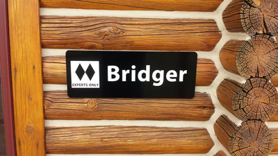 Personalized Ski Trail Sign - Double Black Diamond