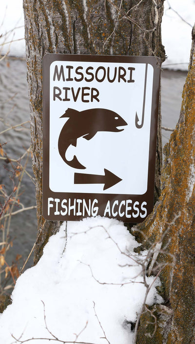 Custom Fishing Access Sign