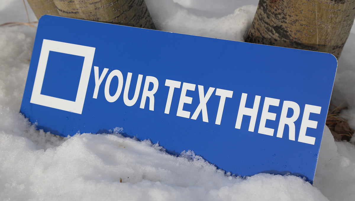 Personalized Ski Trail Sign - Blue Run