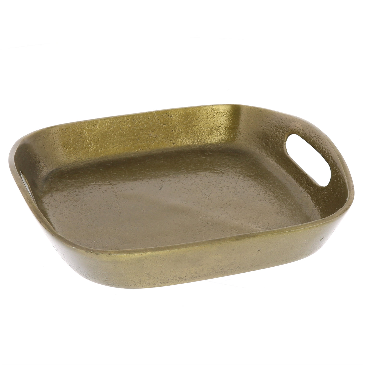 Mackenzie Square Tray - Brass
