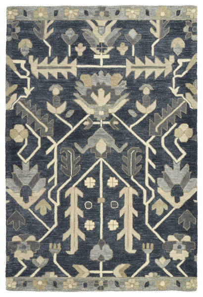 Belinder Blue Hand-Tufted 100% Wool Rug