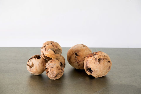Round Chinese Fir Root Orbs