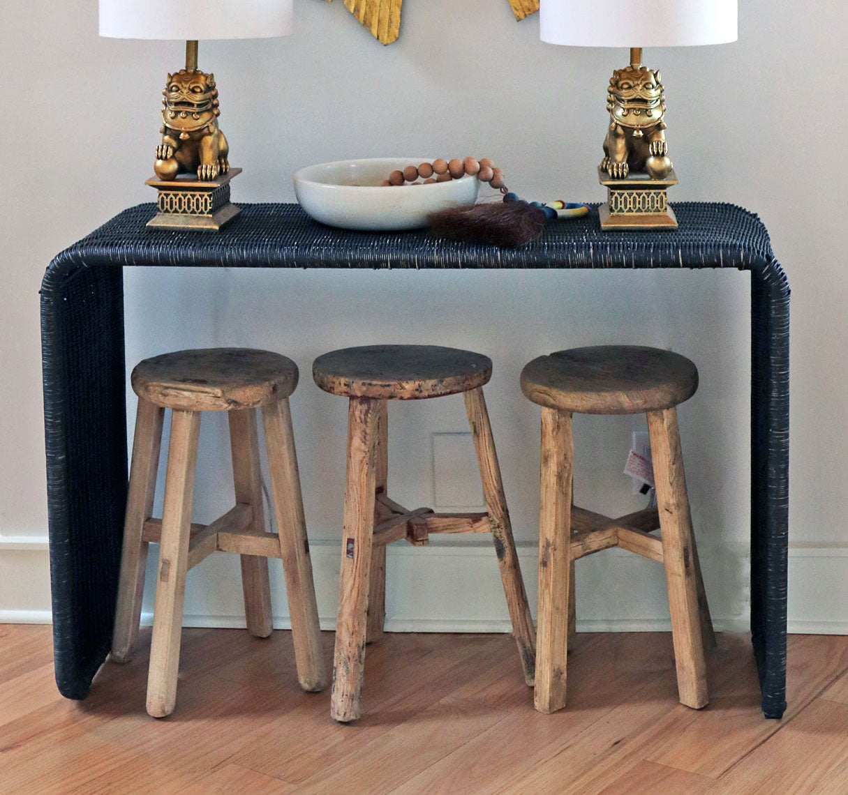Round Top Rustic Stool