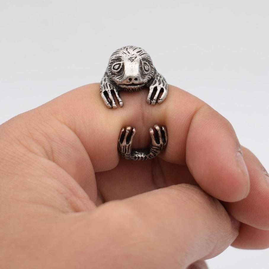 Vintage Adjustable Sloth Ring - Trinket Fascinations Jewelry
