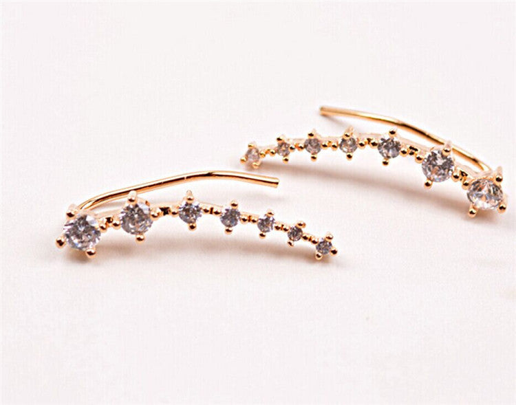 One Pair Ear Cuff Wrap Crystal Earrings - Trinket Fascinations Jewelry