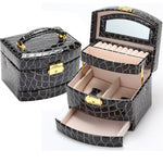Portable Automatic 3-Tiered Jewelry Box