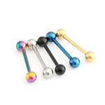 Tongue Piercing Septum Industrial Barbell Two Sizes 5 Colors - Trinket Fascinations Jewelry