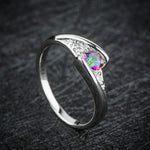 Colorful CZ Silver AAA Zirconia Rings Size 6 7 8 9 10 - Trinket Fascinations Jewelry