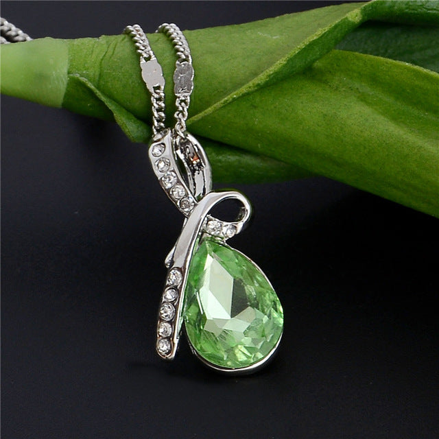 10 Colors Austrian Crystal Pendants Necklace