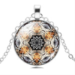 Om Yoga Chakra Pendant Mandala Necklace - Trinket Fascinations Jewelry