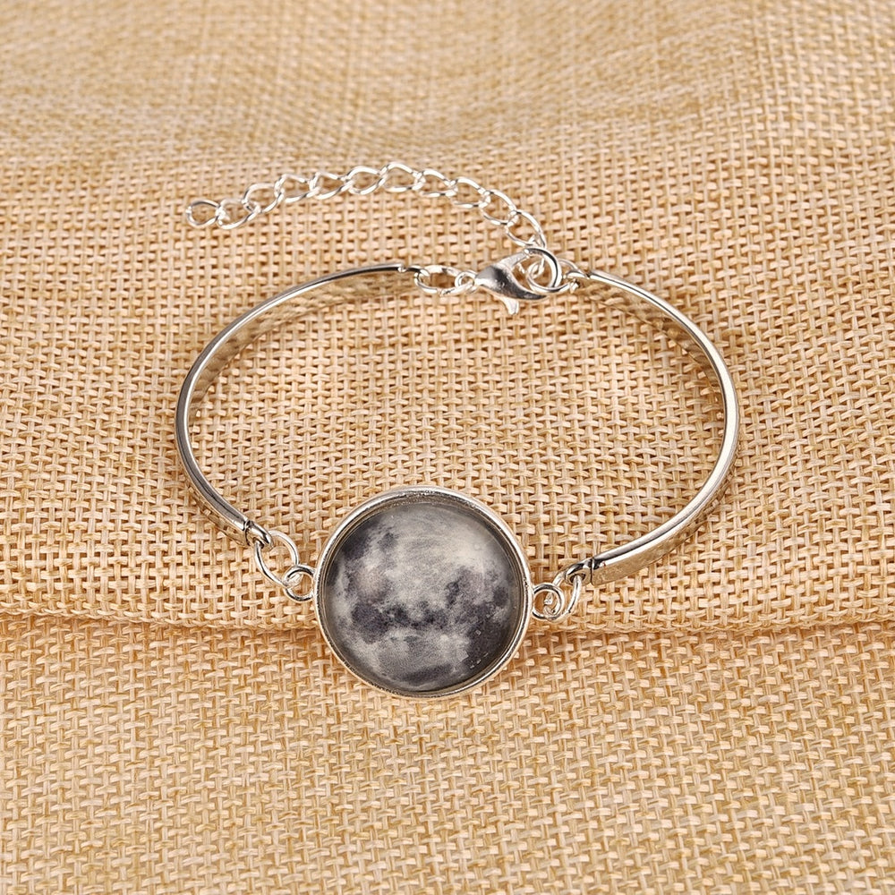 Luminous Galaxy Moon Bracelet - Trinket Fascinations Jewelry