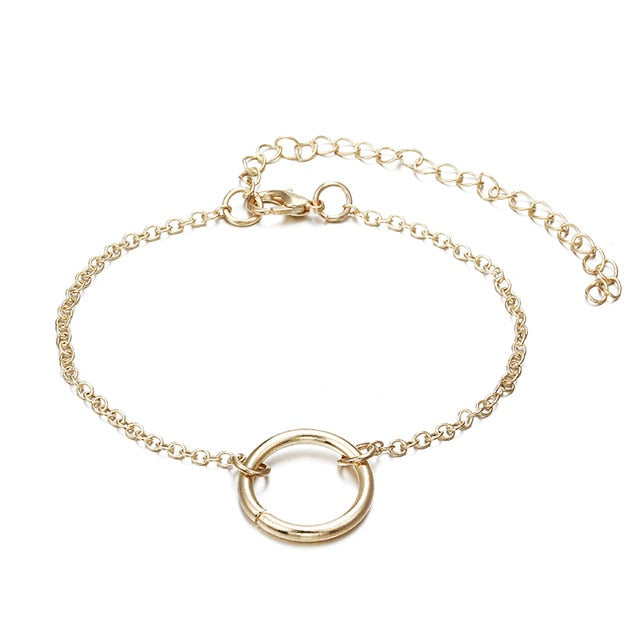 3Pcs/set Double Knot Loop Metal Chain Bracelet - Trinket Fascinations Jewelry