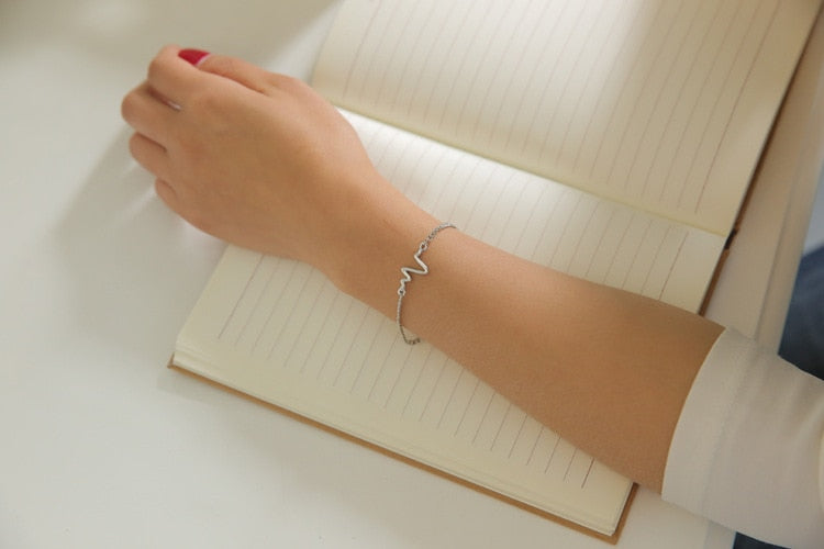 Simple Ecg Ray Diagram Bracelet - Trinket Fascinations Jewelry