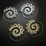 Punk Hollow Spiral Dangle Earrings - Trinket Fascinations Jewelry
