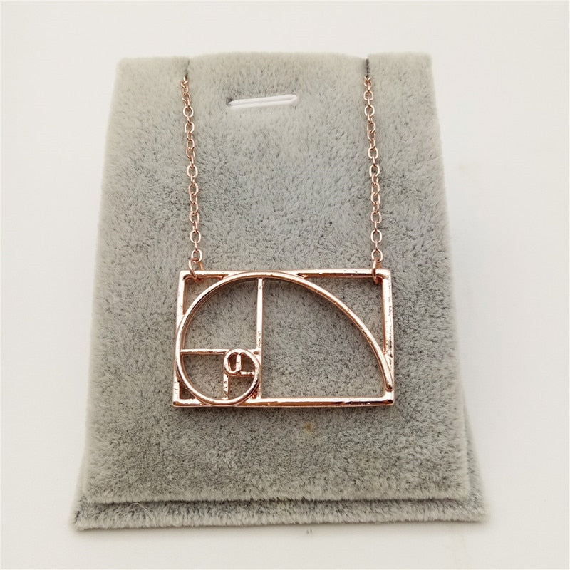Fibonacci Golden Ratio Necklace - Trinket Fascinations Jewelry