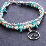 Boho Conch Shell Beads Starfish Handmade Anklets - Trinket Fascinations Jewelry