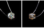 Swarovski Square Crystal Pendant 925 Sterling Silver Necklace - Trinket Fascinations Jewelry