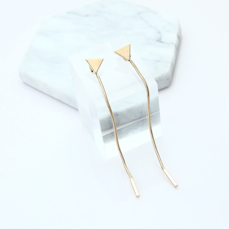 Korean Triangle Chain Anti-allergic Earrings