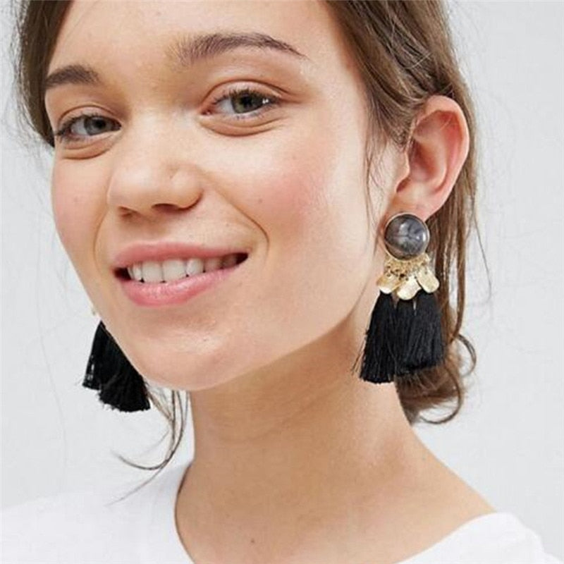 Bohemian Sequins Tassel Earrings for Women - Trinket Fascinations Jewelry