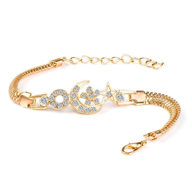 Crystal Zirconia Gold Twisted Bracelets - Trinket Fascinations Jewelry