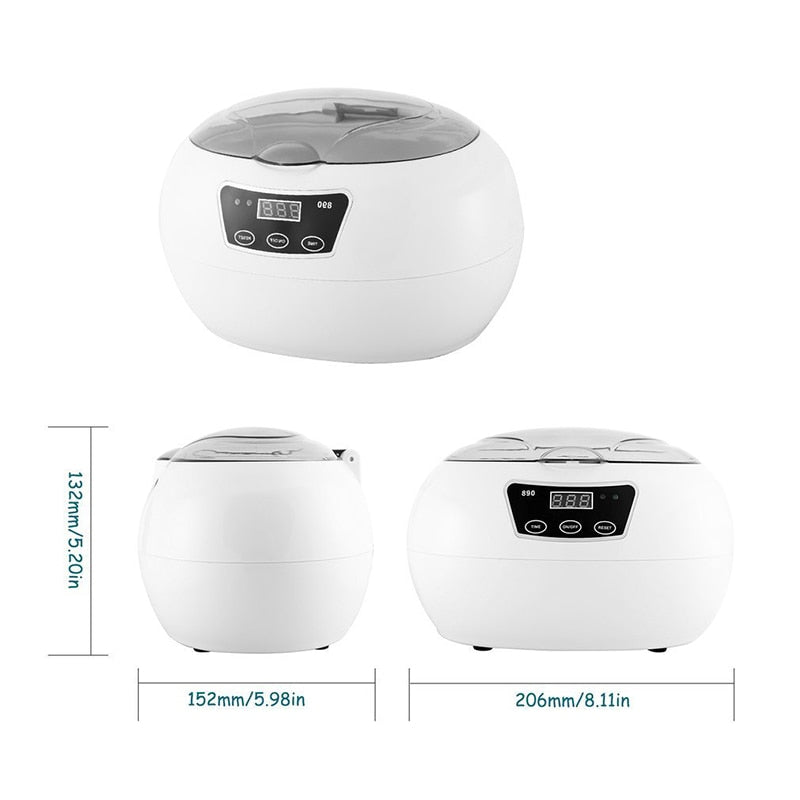 Ultrasonic Cleaner Bath Timer for Jewelry. 600ml - Trinket Fascinations Jewelry