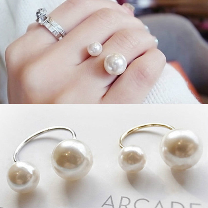 Elegant Pearl Ring Adjustable