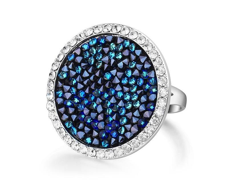 Blue Luxury Ring with Swarovski Crystal Beads