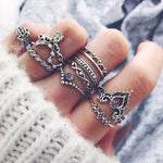 10 Pcs/Set Bohemian Geometric Rings