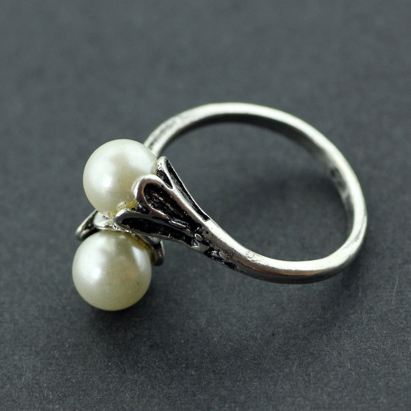 Game of Thrones Daenerys Targaryen Simulated Pearl White Rings - Trinket Fascinations Jewelry