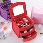 High Quality Velvet Three Layers Portable Multi-functional Jewelry Boxes - Trinket Fascinations Jewelry