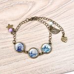 Cabochon Glass Sailboat Pendants Charms Bracelet - Trinket Fascinations Jewelry
