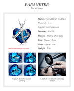 Love You Forever Blue Swarovski Crystal Necklace - Trinket Fascinations Jewelry
